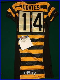 10/9/16 Sammie Coates Game Issued Pittsburgh Steelers Throwback Jersey PSA/DNA