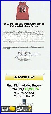 100% Authentic 96-97 Michael Jordan Bulls pro cut Signed game issued jersey Jsa