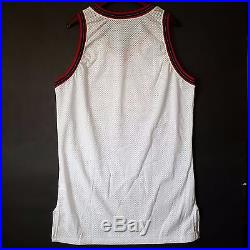 100% Authentic 97 98 Sixers 76ers Home Game Issued Pro Cut Jersey 48 iverson