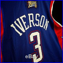 100% Authentic Allen Iverson 2004 All Star Game Issued Jersey 44 + 2