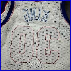 100% Authentic Bernard King Champion 1991 Bullets Game Worn Issued Jersey 46+3