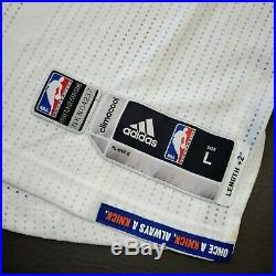 100% Authentic Carmelo Anthony 2015 Knicks Game Issued Jersey Size L+2 Mens