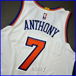 100% Authentic Carmelo Anthony 2016 Knicks Game Issued Jersey Size L+2 Mens