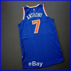 100% Authentic Carmelo Anthony Knicks Game Issued Jersey Size L+2 Mens