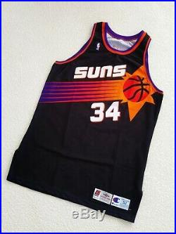 100% Authentic Charles Barkley Champion 94 95 Suns Game Worn Jersey Issued Used