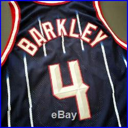 100% Authentic Charles Barkley Champion 96 97 Rockets Game Worn / Issued Jersey
