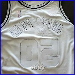 100% Authentic David Robinson Nike 01 02 Spurs Game Issued 911 Jersey 50+4 Mens