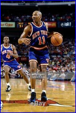 100% Authentic Derek Harper Champion 93 94 Signed Knicks Game Issued Jersey 44+2