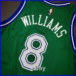 100% Authentic Deron Williams 2015 Mavericks HWC Game Issued Jersey L+2