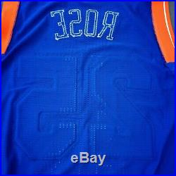 100% Authentic Derrick Rose 2015 Knicks Game Issued Jersey Size XL+2 used