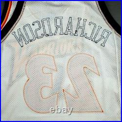 100% Authentic Jason Richardson Rookie 01 02 Game Issued Warriors Jersey 911