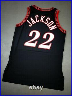 100% Authentic Jimmy Jackson Champion 97 98 Sixers Game Issued Jersey 46+3