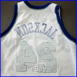 100% Authentic Jimmy Jackson Champion Mavericks 93 94 Game Worn Issued Jersey