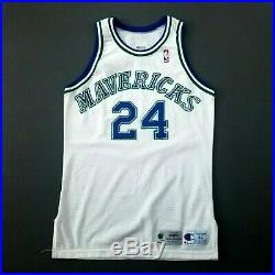 100% Authentic Jimmy Jackson Vintage 95 96 Game Worn Issued Mavericks Jersey