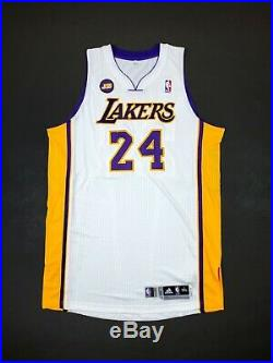 100% Authentic Kobe Bryant Adidas 2012 LA Lakers Game Issued Jersey 3XL+2
