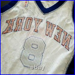 100% Authentic Latrell Sprewell Puma 00 01 Knicks Game Issued Jersey 48+2 Mens