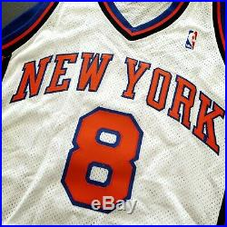 100% Authentic Latrell Sprewell Puma 00 01 Knicks Game Issued Jersey worn used
