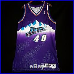100% Authentic Shandon Anderson Champion Jazz Game Issued Jersey malone karl