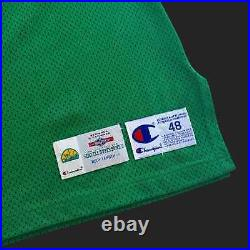 100% Authentic Shawn Kemp Champion 94 95 Seattle Supersonics Game Issued Jersey