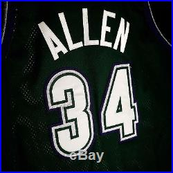 100% Authentic Starter Ray Allen 97 98 Bucks Game Issued Jersey Size 42