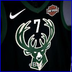 100% Authentic Thon Maker Nike Bucks Game Issued Jersey giannis antetokounmpo