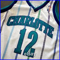 100% Authentic Vlade Divac Starter 97 98 Hornets Game Worn Issued Signed Jersey