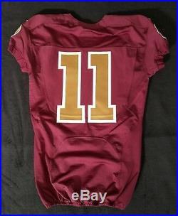 #11 No Name of Washington Redskins NFL Locker Room Game Issued Alternate Jersey