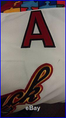 15-'16 Game Issued ECHL ADK Thunder Mathieu Brodeur Autism Jersey Calgary