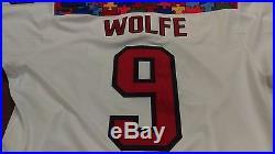 15-'16 Game Issued ECHL Adirondack Thunder Greg Wolfe Autism Jersey Calgary