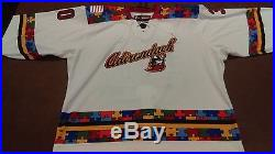 15-'16 Game Issued ECHL Adirondack Thunder Ryan Lomberg Autism Jersey Calgary