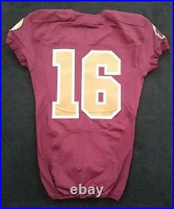#16 No Name of Washington Redskins NFL Locker Room Game Issued Alternate Jersey
