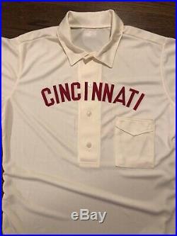 1902 Cincinnati reds Team Issued Throwback Game Jersey Alex Blandino Size 46