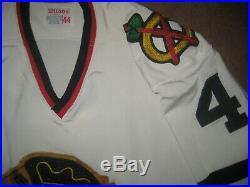 1971-1973 Chicago Blackhawks Road Jersey Durene Gunzo's Game Issued Worn