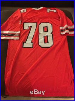 1980 #78 Russell Game Issued/WORN JERSEY Atlanta Falcons Size 52 No Nameplate