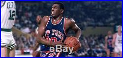 1980s New York Knicks 46 2 LB Sandknit Cosby Bernard King Game Issued Jersey