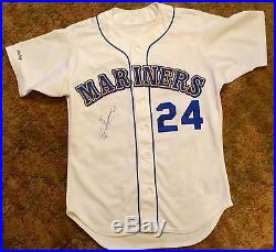1989 Ken Griffey Jr. Autographed Game Issue Rookie Seattle Mariner Jersey + COA