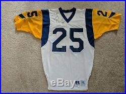 1990 Jerry Gray NFL Authentic Pro Cut Issued LA Rams Jersey, Game Used Signed