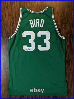 1991-92 Larry Bird Signed NBA Game Worn/Issued Jersey- Boston Celtics