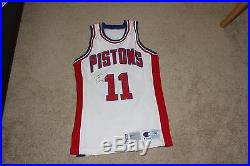 1991 isiah thomas signed game issued pistons jersey