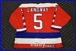 1993-94 Rod Langway Washington Capitals Game Issued Jersey