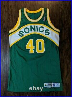 1994-95 Shawn Kemp NBA Game Worn/Issued Jersey-Seattle Supersonics
