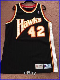 1994-95 Vernel Singleton Game Issued Pro Cut NBA Jersey Champion Atlanta Hawks