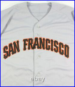 1994 BARRY BONDS GAME ISSUED SAN FRANCISCO GIANTS 125th ANNIV. PATCH ROAD JERSEY