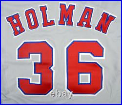 1994 Montreal Expos Shawn Holman #36 Game Issued Grey Jersey 125th Annv Patch