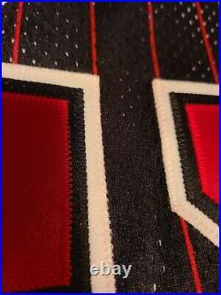 1995-96 Michael Jordan Champion Pro Cut Pinstripe Bulls Game Issued Jersey 46 +3