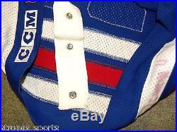 1995-96 New York Rangers Peter Ferraro Set 2 Game Worn Issued Jersey