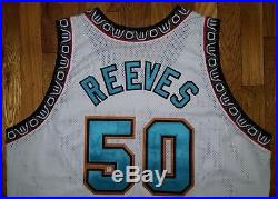 1995 Vancouver Grizzlies Bryant Reeves Game Used Worn Jersey 54+4 pro cut issued