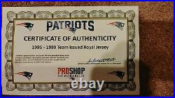 1996-1997 Turner Team Issued Royal New England Patriots Game Jersey