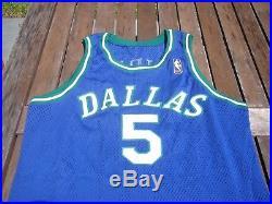 1996-97 Champion Jason Kidd Dallas Mavericks Game Issued Pro Cut Jersey vtg Gold