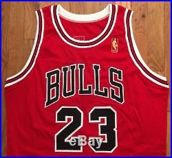 1996-97 Chicago Bulls Michael Jordan Pro Cut Jersey 46 + 3 game issued used worn